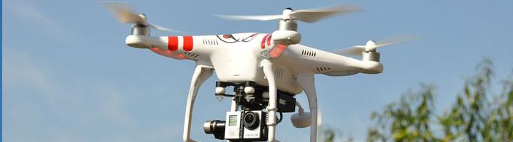 drone in dubai sky